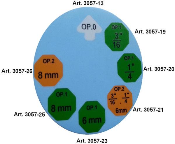 BGS Nyomófej a 3057 peremezőhöz 1/4 BGS-3057-20