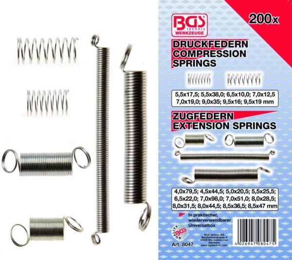 BGS Rugó készlet 200-részes BGS-8047