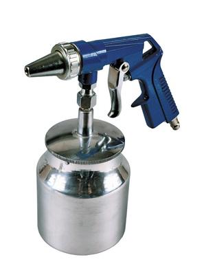 MAGG homokfúvó pisztoly alsó fém tartállyal homokszóró 1000 ml egyszer használt PS4EH