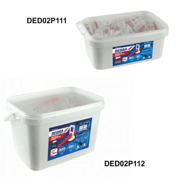 Dedra Csempe szintező készlet150klipsz+50ék vödörben 3L – DED02P111