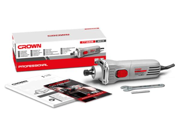Crown Elektromos egyenescsiszoló egyenes csiszoló turbómaró 600W Ipari gép CT13308