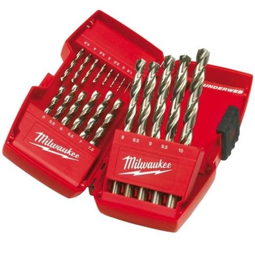Milwaukee Thunderweb fúrókészlet fúrószár készlet HSS-G fúrószett 1-10mm 19 részes 4932352374