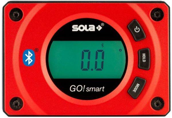 SOLA-GO! SMART Digitális vízmérték bluetoothos víz mérték szintmérő dőlésmérő 8cm 01483001