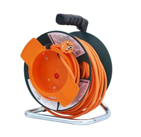 Hecht hosszabbító dobbal villanyvezeték villany hosszabító kábeldob 50m 3×1,5mm 150153