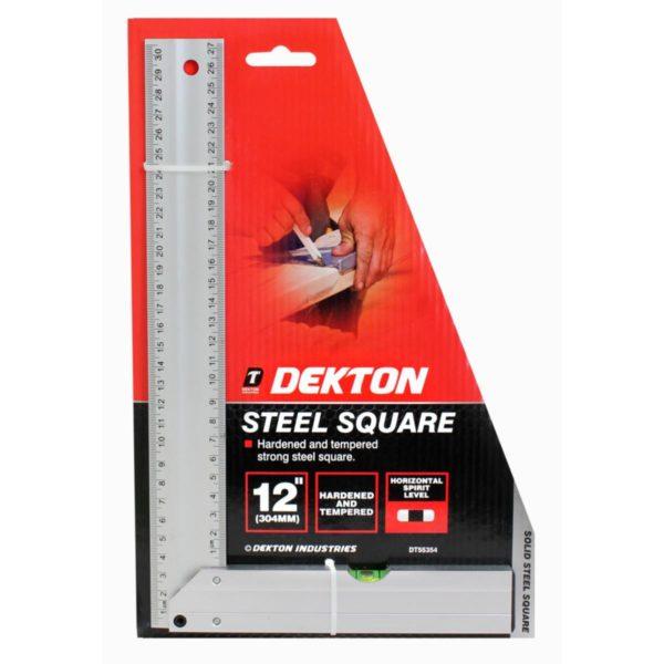 """Dekton acél derékszög vízmértékkel vízmértékes derékszög 300mm 12"""" DT55354"""