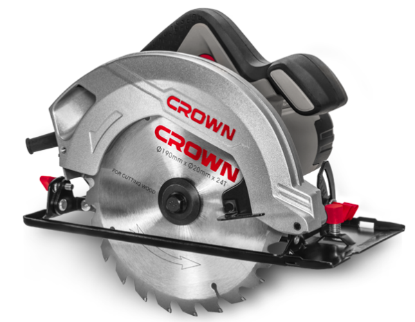Crown Elektromos kézi körfűrész 1500W 185-190mm ipari gép CT15188-190