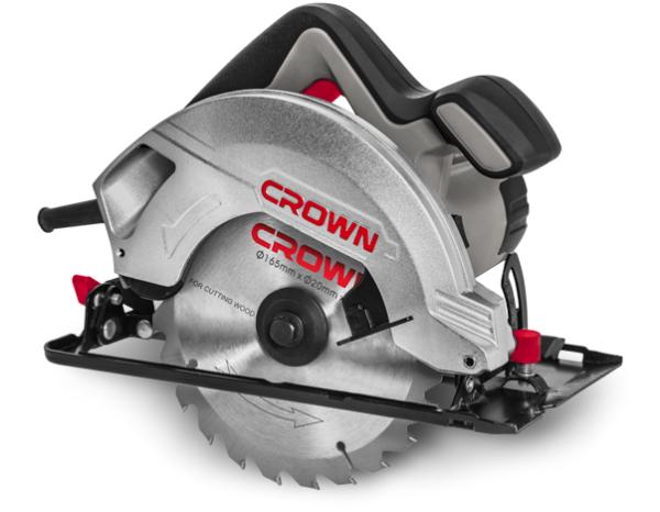Crown Elektromos kézi körfűrész 1200W 160-165mm ipari gép CT15187-165